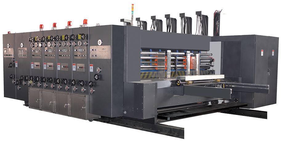 Lead edge printing and rotary die cutting machine