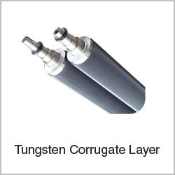 tungsten-corrugate-layer